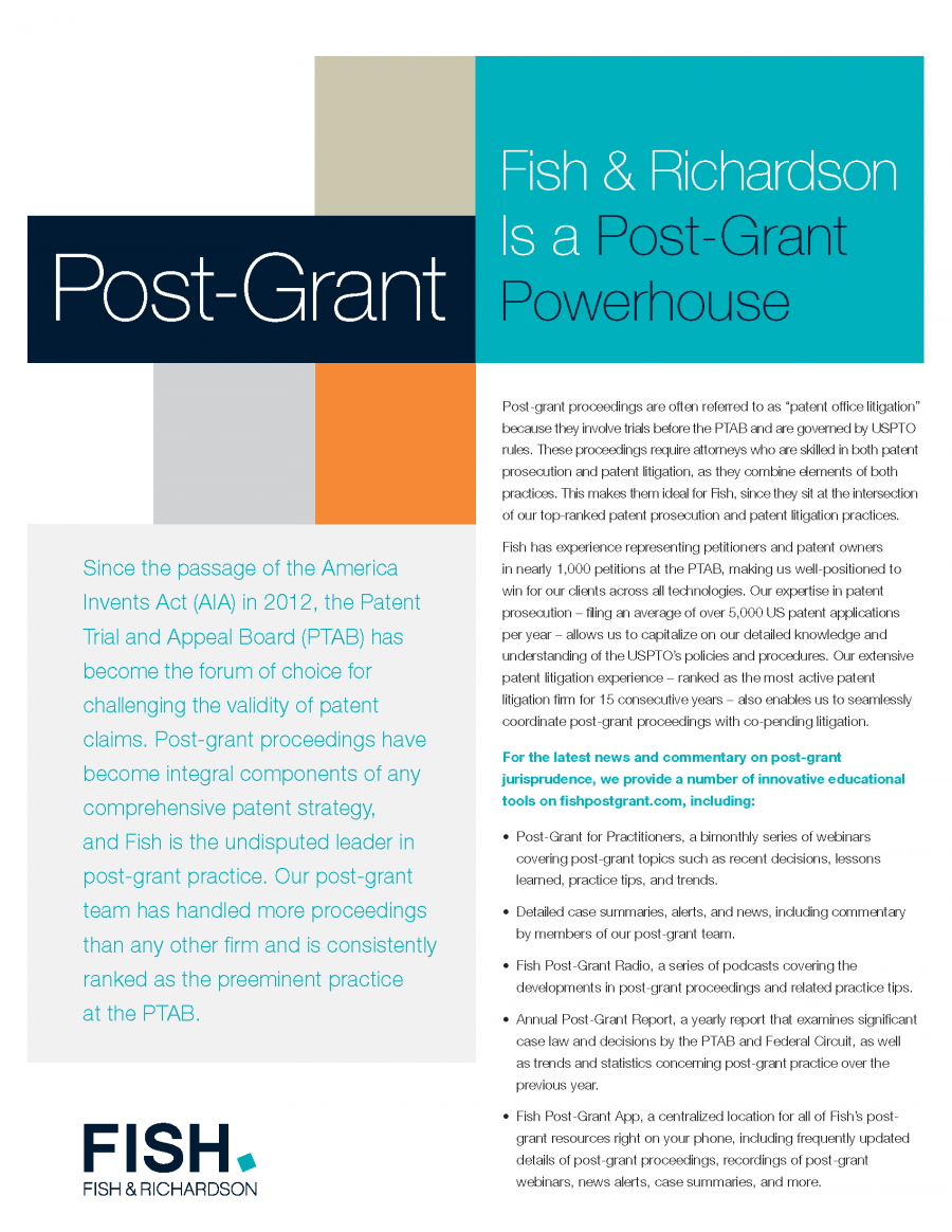 Post-Grant Practice Overview